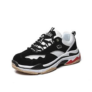 西瑞男鞋新款韩版百搭透气运动休闲鞋青少年熊猫鞋老爹MLD-867-A67