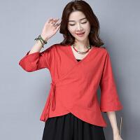 中国风女装春装 民族风女装 中式汉服改良复古上衣舞蹈服装女
