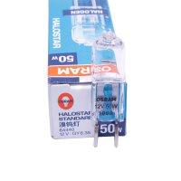 OSRAM欧司朗卤素灯珠低压12V GY6.35 35W 50W透明插针米泡溴钨灯
