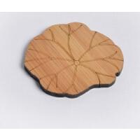 竹制茶杯垫隔热茶垫中国风功夫茶具配件创意茶托茶道杯子垫