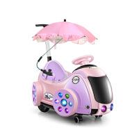 儿童电动汽车可坐人充电带遥控男女小孩1-3岁宝宝4轮婴幼玩具推车 单电全功能蓝色 收藏加购送