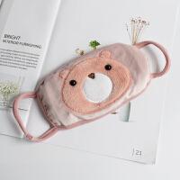 韩版口罩女冬季可爱卡通小熊棉口罩加绒加厚保暖时尚潮上新