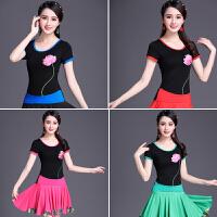 夏装新款中国风民族风女装刺绣上衣短袖t恤女绣花大码纯棉打底衫