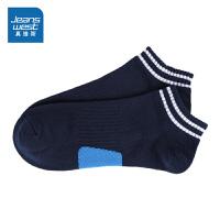 [秒杀价:4.9元,秒杀狂欢再续仅限4.6-4.10]真维斯男装 春秋装 织间撞色块船袜
