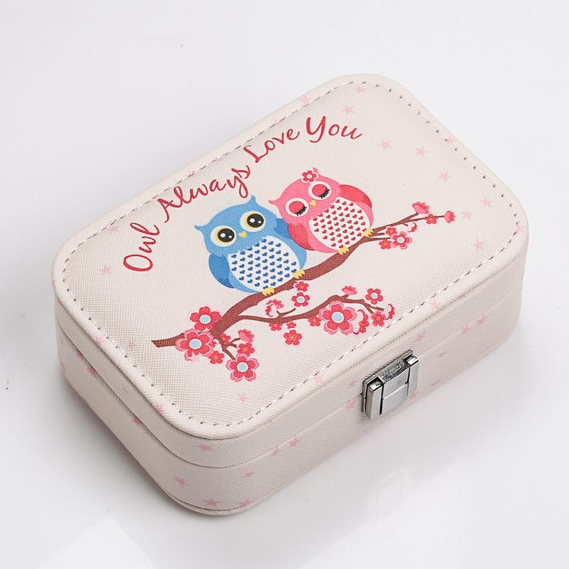首饰收纳盒公主便携饰品盒小号手饰品盒耳钉戒指整理盒绒布