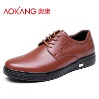 奥康男鞋商务休闲鞋男士防滑低帮商务皮鞋男单鞋子