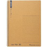 日本maruman美乐麦|spiral 牛皮纸封面螺旋笔记本 记事本B5 80页