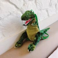 可爱包包卡通毛绒抱枕玩偶恐龙双肩包动物霸王龙个性单肩背包