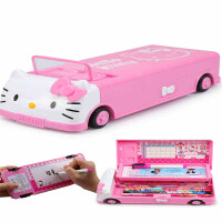 凯蒂猫小学生文具盒女孩公主多功能笔盒一年级幼儿园儿童铅笔盒女
