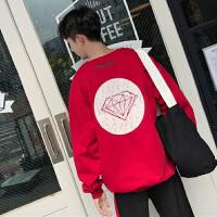 新款卫衣男士圆领套头外套2018秋季韩版修身潮流学生衣服长袖男装