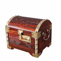 大红酸枝红木雕花首饰盒珠宝箱梳妆盒子带密码锁饰品复古收纳箱子