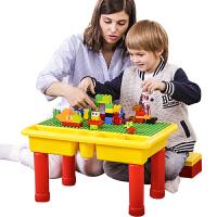 儿童积木桌子多功能游戏桌大颗粒积木智力拼装玩具男孩3周岁