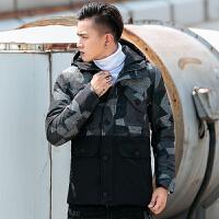 冬季棉服嘻哈迷彩外套韩版潮流新款工装棉衣男