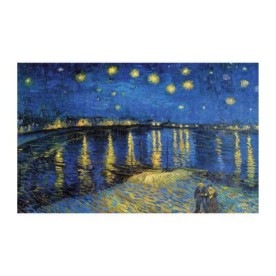 成人1000片木质拼图1500世界名画油画星空梵高罗纳河畔的星夜