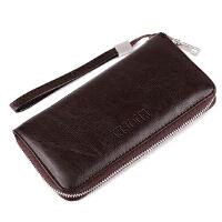 Ruofei男士手拿包休闲男士钱包长款拉链商务软皮夹RF-207
