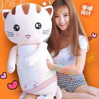 可爱暖手抱枕少女心公仔玩偶女生猫咪毛绒布娃娃睡觉手捂韩国搞怪