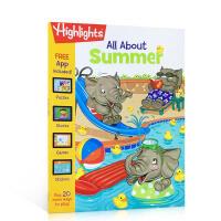 英文原版Highlight益智小游戏 夏天 英文原版 All About Summer 互动游戏书 季节主题活动书 故