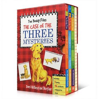 英文进口原版 英文原版 The Buddy Files Boxed Set #1-3 狗侦探3本盒装the buddy files the case of the three mysteries儿童解