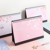 创意卡通日历少女计划台历可爱桌面摆件记事历2020立式台历批发
