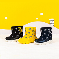 【4折价:99.6】B.Duck 小黄鸭童鞋冬季新款加绒保暖时尚休闲男童雪地靴