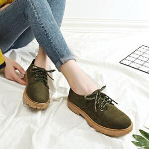 卡帝乐鳄鱼短靴马丁靴女英伦风新款韩版百搭学生鞋平底鞋马丁鞋女