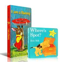 英文原版绘本 I am a Bunny 我是一只兔子 Where's is Spot ?小波在哪里 幼儿启蒙2本英语辅
