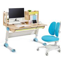 2平米 探索家儿童学习桌椅套装 实木桦木1.2米儿童书桌 可升降写字桌 课桌 台湾金点设计奖