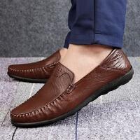 DAZED CONFUSED2017新款英伦风正装皮鞋商务豆豆鞋软底休闲鞋男士套脚驾车一脚