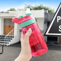 儿童水杯 儿童水杯宝宝吸管杯防漏杯子喝水便携运动水壶鸭嘴杯塑料杯