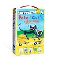 英文原版绘本I Can Read my first Pete the Cat 5本too cool for schoo