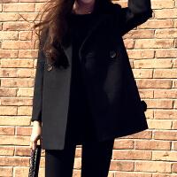 Lee Cooper秋冬新款优雅气质呢大衣口袋纽扣气质时尚女款休闲毛呢大衣