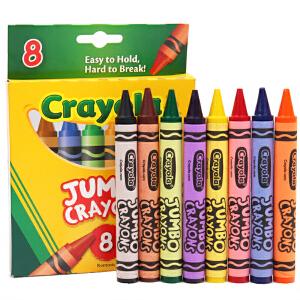 当当自营Crayola 绘儿乐 8色幼儿用大蜡笔 52-0389