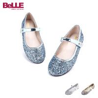 【159元2双】Belle/百丽童鞋 中童皮鞋甜美闪亮小皮鞋DE0194