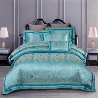 家居套件欧式贡缎提花四件套全棉被套婚庆刺绣花1.8m床上用品