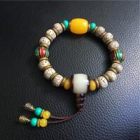 西藏星月菩提念珠 藏式星月菩提手串特色民族风手串