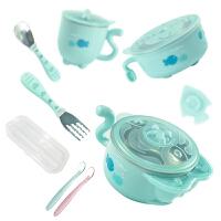 婴幼儿童可爱注水保温碗 婴儿宝宝餐具碗勺套装辅食碗
