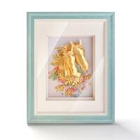 现代简约欧式家居摆件 金箔画温馨浪漫送朋友结婚礼物