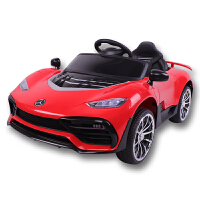 20190709152207320儿童电动车小孩婴儿四轮遥控汽车1-3岁4-6摇摆童车可坐宝宝玩具车 红色单电双驱 无