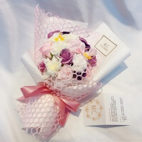 玫瑰花礼物肥皂香皂花束diy手工5.20我爱你七夕情人节生日创意礼品 新款C *盒