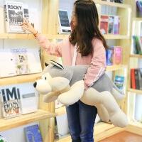 趴趴狗狗哈士奇抱枕阿拉斯加雪橇犬生日礼物女毛绒玩具哈士奇公仔
