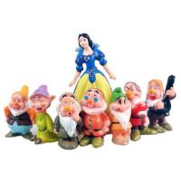 白雪公主与七个小矮人情景烘焙蛋糕摆件装饰公仔玩具模型女孩礼物
