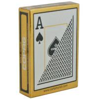 德州扑克牌 磨砂全塑料大字扑克 手感佳红黑两色