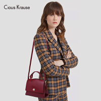 Clous Krause ck包包女包2019新款单肩斜挎包时尚百搭牛皮手提包气质淑女宽肩带小众单肩包