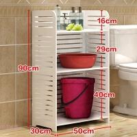 洗手间置物架落地卫浴用品用具卫生间浴室脸盆收纳架放盆架置地式 三层 90*50*30cm