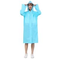 雨衣儿童徒步透明雨衣男女户外长款学生雨披大帽檐潮雨衣