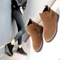 靴子女短靴女新款秋季冬单靴切尔西靴平底复古马丁靴女英伦chic短靴学生短筒靴子2334DTH