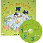 英文原版 Over in the Meadow 越过草地 附CD 超大开本 Child's Play儿歌洞洞书 韵文童