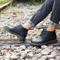 CUM 男士马丁靴高帮厚底英伦增高系带百搭潮流户外工装靴短靴