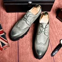 DAZED CONFUSED男士布洛克雕花休闲鞋2017秋季新款英伦风商务正装皮鞋青年结婚