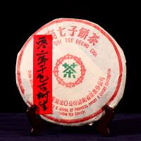 整件84片一起拍【15年陈期老生茶】2002年中茶绿印普洱古树生茶 357克/片